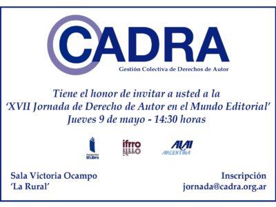 El  próximo 9 de mayo realizaremos nuestra jornada anual en la Feria del Libro de Buenos Aires